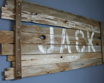 Rustic Name Wall Hanging
