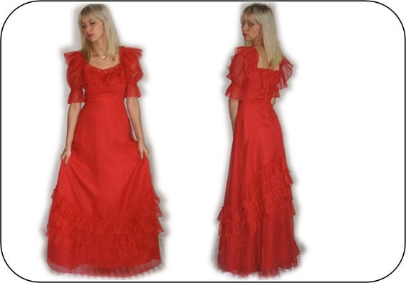 Halloween Costume Southern Bell Red Wedding Dress By HAINTBLU