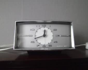 1950s style vintage clock with alarm