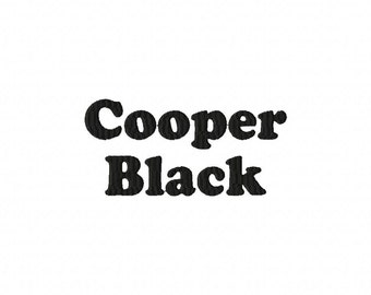 Cooper Black Machine Embroidery Fonts  2154