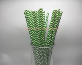 Paper Straws Vintage 50 Green Chevron Paper Drinking Straws Wedding Bridal Baby Shower Party Zig Zag Straws FREE DIY Flags
