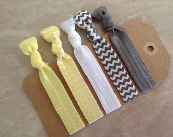 Set of 5 Elastic Hair Ties