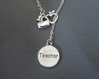 Apples for the Teacher Necklace - Lariat Style