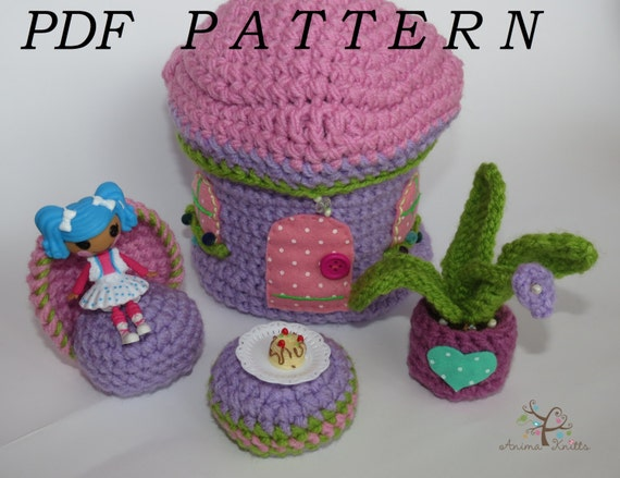 Amigurumi Doll House : CROCHET PATTERN Amigurumi pattern PDF Pattern doll house