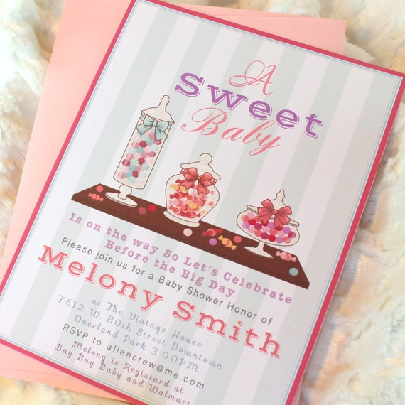 DIGITAL Baby Shower Sweet Shoppe Shop Candy Buffet By