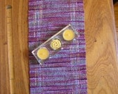 Random striped Handwoven Rayon Table runner