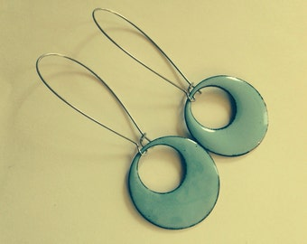 Sraight line to a circle earrings