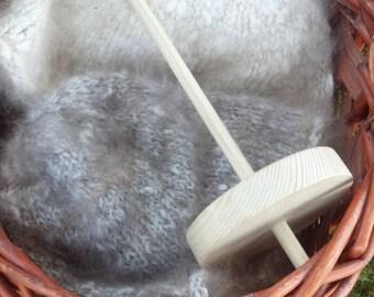 Handmade wood drop spindle, beginner drop spindle, basic starter drop spindle