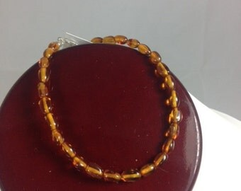 Baltic Amber Bracelet or Anklet- 7 through 12 inches