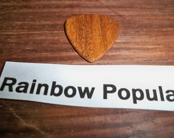 Rainbow Poplar wood guitar pick