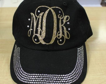 Monogram Cap, Interlocking Monogram Hat, Baseball Hat, Monogram Hat