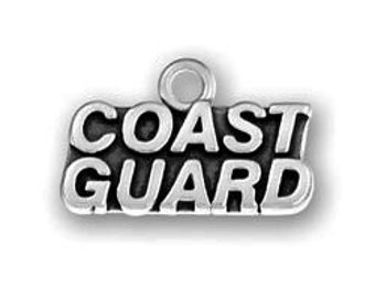 5 Silver Coast Guard Charm 11x19mm by TIJC - SP0548