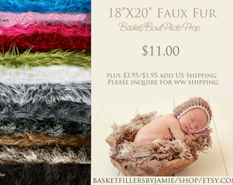 Extra Long Faux Fur, Newborn Photography Props, Mongolian Fur, Long Faux Fur, Props for Babies, Newborn Photo Props, Fur Fabric