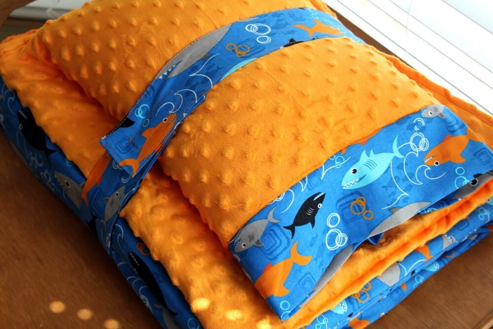 Nap Mat Cover Sharks Blue Black Orange Choose Your
