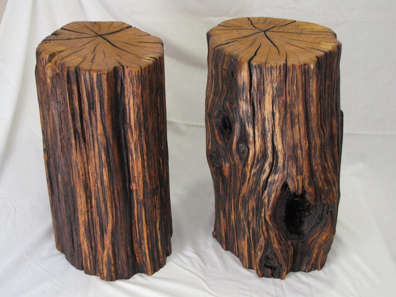 Oak Driftwood Log Tables Rustic Stump Table by MissouriNatureArt