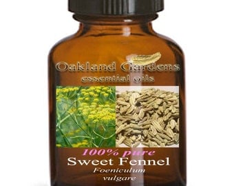 SWEET FENNEL - 100% PURE Therapeutic Grade Essential Oil - floral scent with an herbal top note and anise-like aroma - Foeniculum vulgare