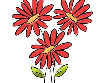 Teal Gerber Daisy Clipart - Free Clip Art Images
