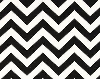 SALE - Ships Same Day Premier Prints Zig Zag Black - Black and White Chevron print - Fabric by the  yard