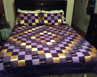 Crown Royal Quilt with Matching Pillow Shams