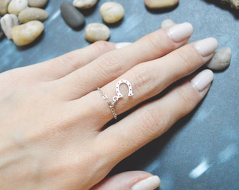 Horseshoe chain ring, Horse's hoof E-049