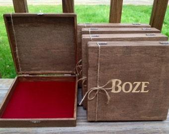 Groomsmen Gift, Keepsake Box, Set of 10, Wood Cigar Boxes, Cigar Box, Personalized Cigar Box, Groomsman Gifts, Best Man Gifts, Keepsake