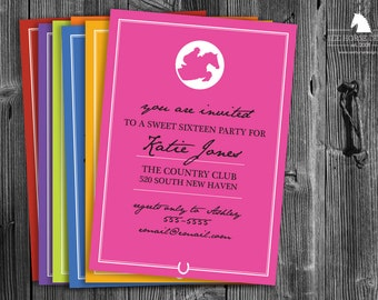 Bright Modern Equestrian Invitations - Jumper