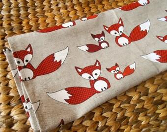 Fox Tea Towel Woodland Tea Towel Fox Towel Kitchen Towel Hand Towel Fox Kit Fox Baby Fox Dish Towel Gift For Her Christmas Gift