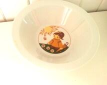 GDR Inglasur Colditz childrens deep dish. Vintage retro gift West Germany