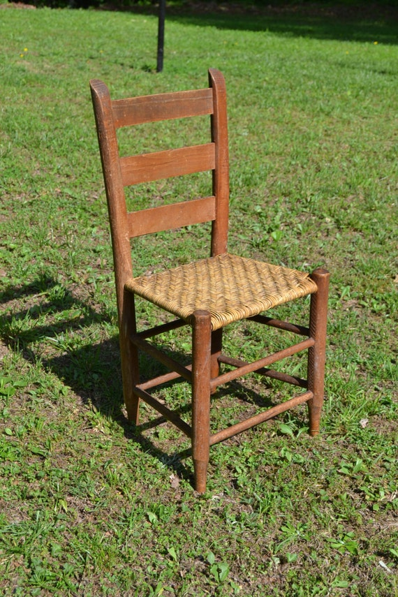 old wooden ladder back chairs vintage antique ladder back wooden chair woven by panchosporch 7165