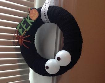 Eek! Halloween Fall Yarn Wreath