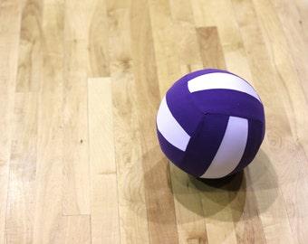 Volleyball Balloon, Purple & White
