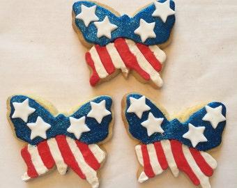 Patriotic Butterflies cookies