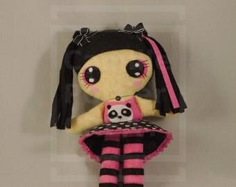 Doll / Kawaii / Panda / Japan / Ooak /