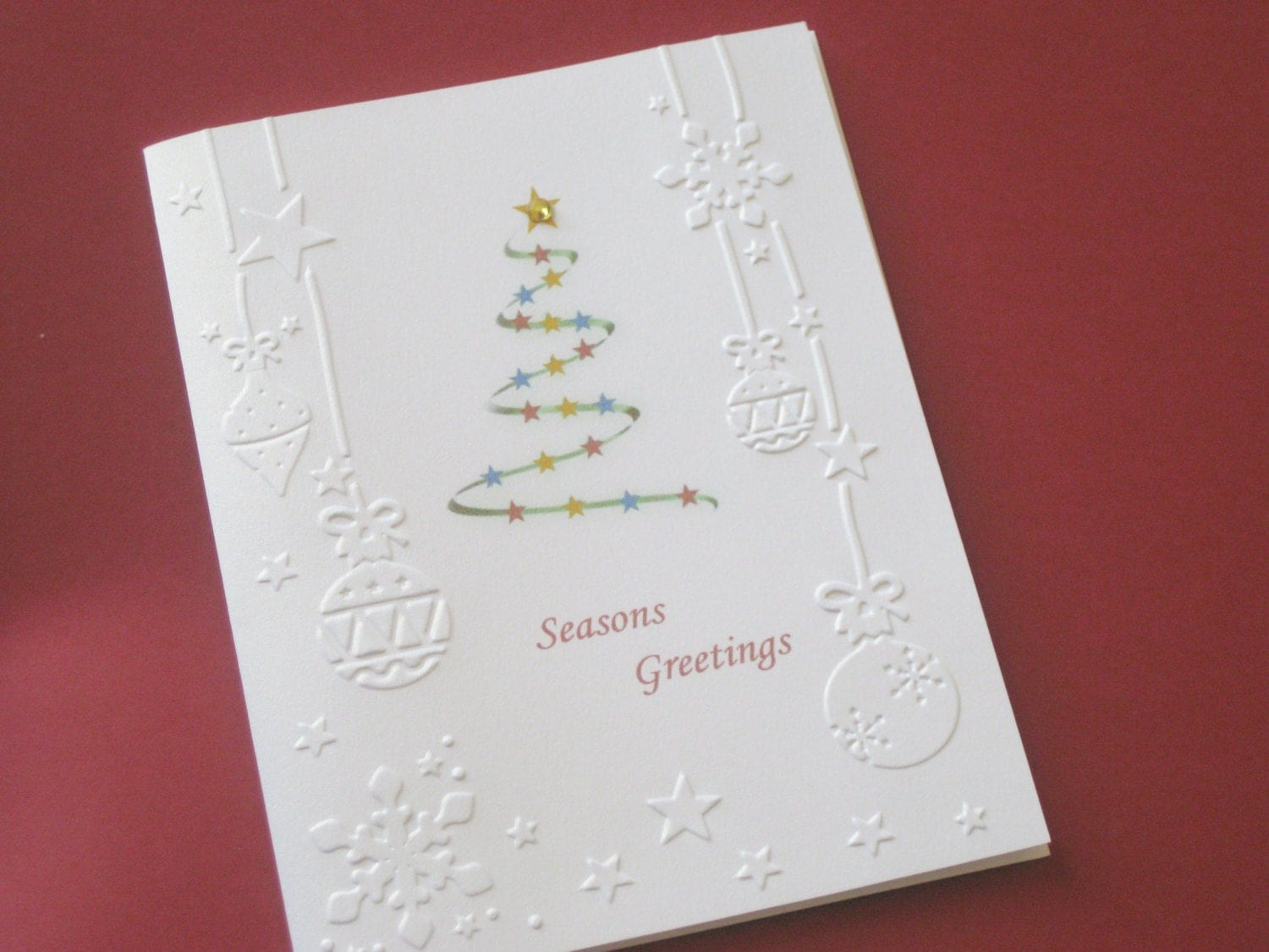 handmade embossed christmas cards christmas card by rosmina