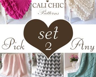 Patterns 2 SET SALE - Sale Coupon Code - Pick any Two (2) Patterns from shop & use Coupon Code - CHOOSE2 - (or request patterns by email)