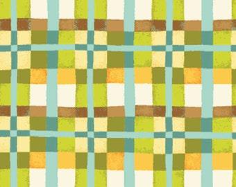 "REMNANT!! Mischief  - Happy Plaid in Green - Little Boy Fabric Line - 8"" x WOF - Designed by Nancy Halvorsen for Benartex (w891)"