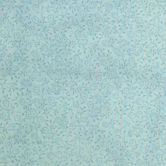 Lee Jofa Glazed Cotton Milford Print Aqua Blue Foral