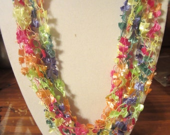 Crocheted Ribbon Necklace Polyester Unique Lightweight