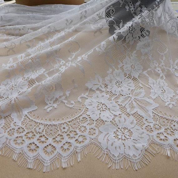 Wedding Dress Fabric: White Lace Fabric, Beautiful Chantilly Fabric, Bridal