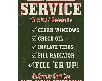 Friendly Service Gas Station Wall Decal #42481