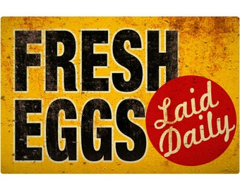 Fresh Eggs Laid Daily Wall Decal #46711