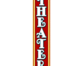 Theater Marquee Tall Wall Decal #46951