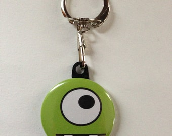 Cute Monster Keychain Green Handmade Keychain, Geekery, Keychains, Monsters, Cute Monsters, Monster Gifts