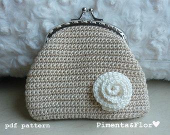 Pattern Crochet Flower Purse N.1