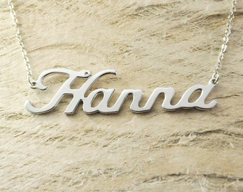 Alloy 925 sterling silver  name necklace name pandant any name available a good gift personalized jewelry customized necklace couples gift