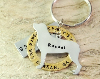 Rottweiler dog tag personalized  dog tag 3 piece Pet tag Pet Id Tag Hand stamped  custom Made with your Pets Name/phone number
