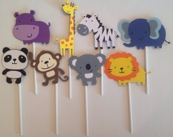 Animal Cupcake Toppers, set of 24