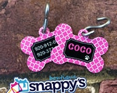 LARGE Personalized Dog Tag - Custom Made with your Pets Name w/phone number