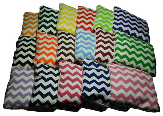 Wedding Chevron Cornhole Bags - Weather Resistant - Build your own set - Set of 8 cornhole bags - Baggo bags - Cornhole bean bags