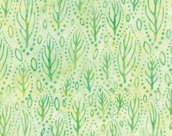 Light Green Batik Fabric - Catalina Batik for Moda Fabrics - Tropical 4329 34 - 1/2 yard